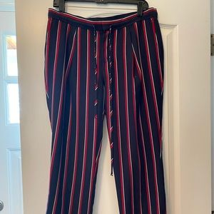 Banana Republic Blue and Red striped work pants